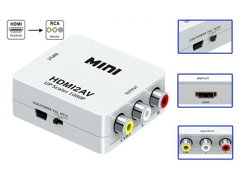 конвертер сигнала с HDMI в RCA