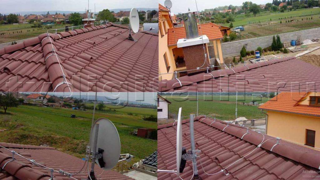 Молниеотвод подключение к антенне