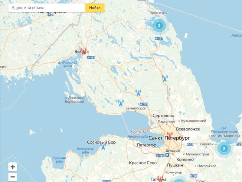 Карта охвата цифрового тв