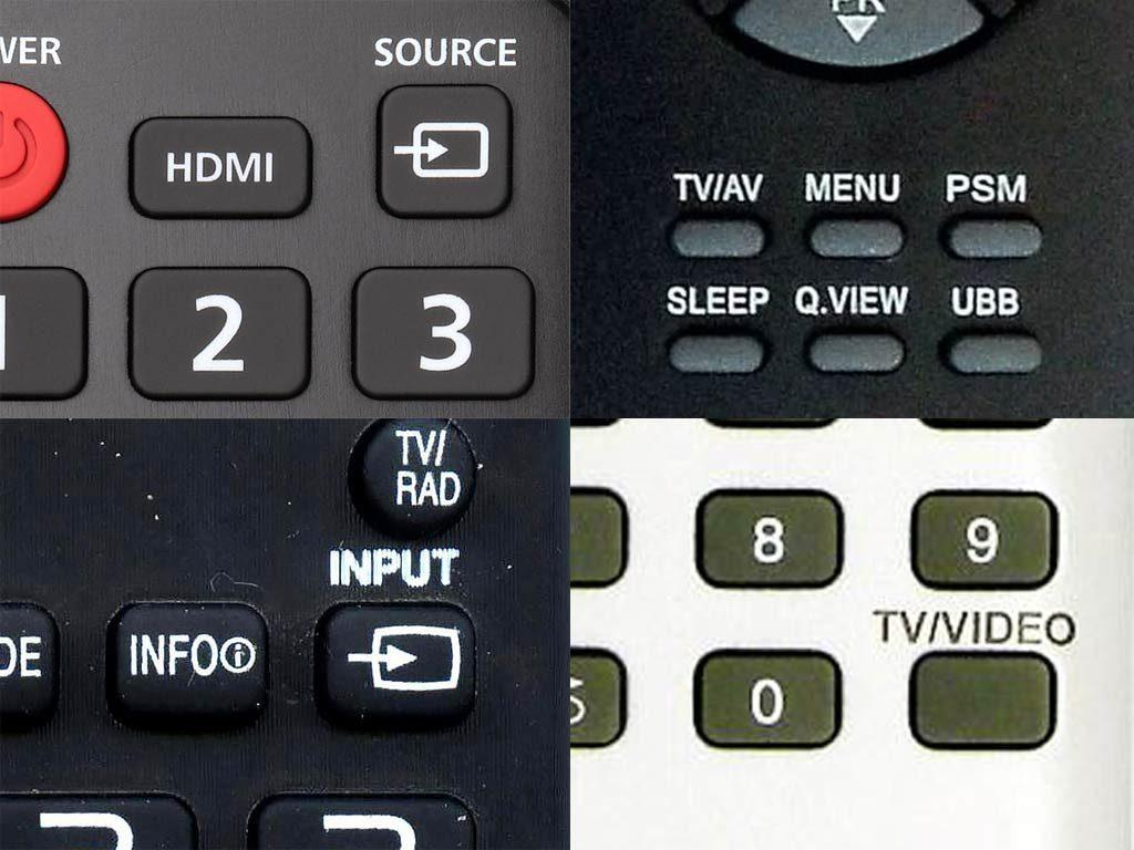 кнопки на пульте телевизора