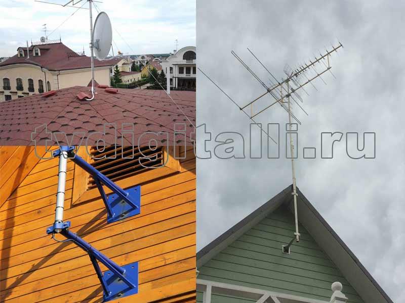 установка антенн на мачту