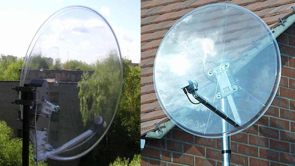 Пластиковая спутниковая антенна