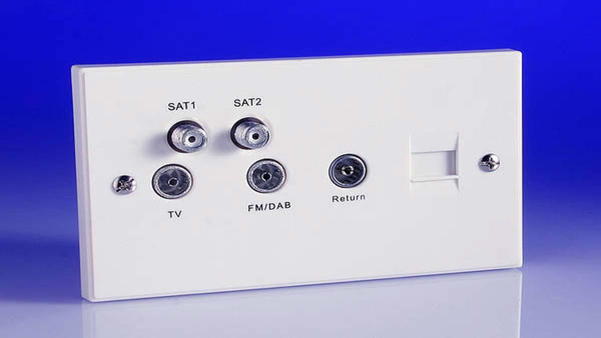 Подключение кабеля к ТВ розетке